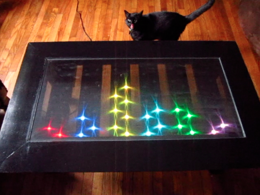 LED Spectrum Analyzer Coffee Table  William Martin -> Table Galet Led